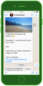 WhatsApp Tourismus