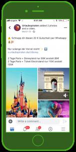 Urlaubspiraten Facebook Gutschein Tourismus WhatsApp