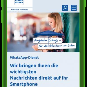 kundenserivce-und-whatsapp-versicherungskammer-bayern-landingpage