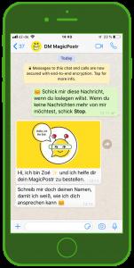 ecommerce messenger kundenservice dm chatbot zoe kundenservice und whatsapp 1
