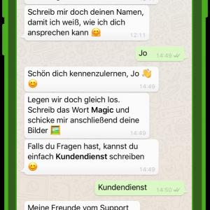 dm chatbot zoe kundenservice und whatsapp 2