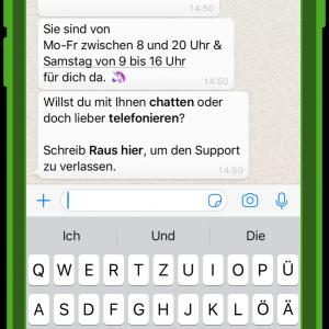 dm chatbot zoe kundenservice und whatsapp 3