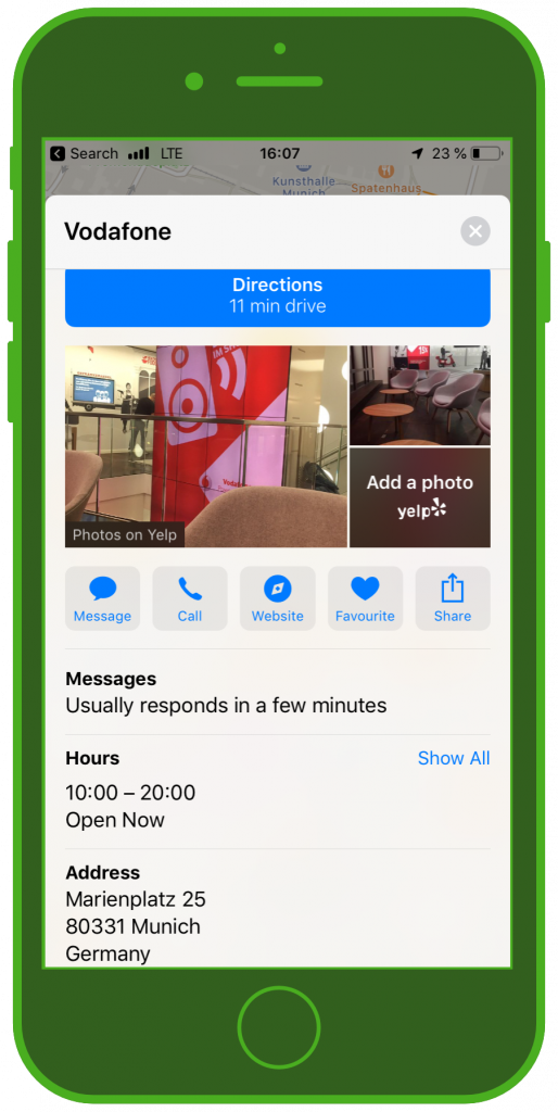einzelhandel-messenger-kundenservice-vodafone-apple-business-chat
