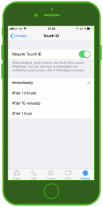 WhatsApp Update 2019 Touch ID Feature 3