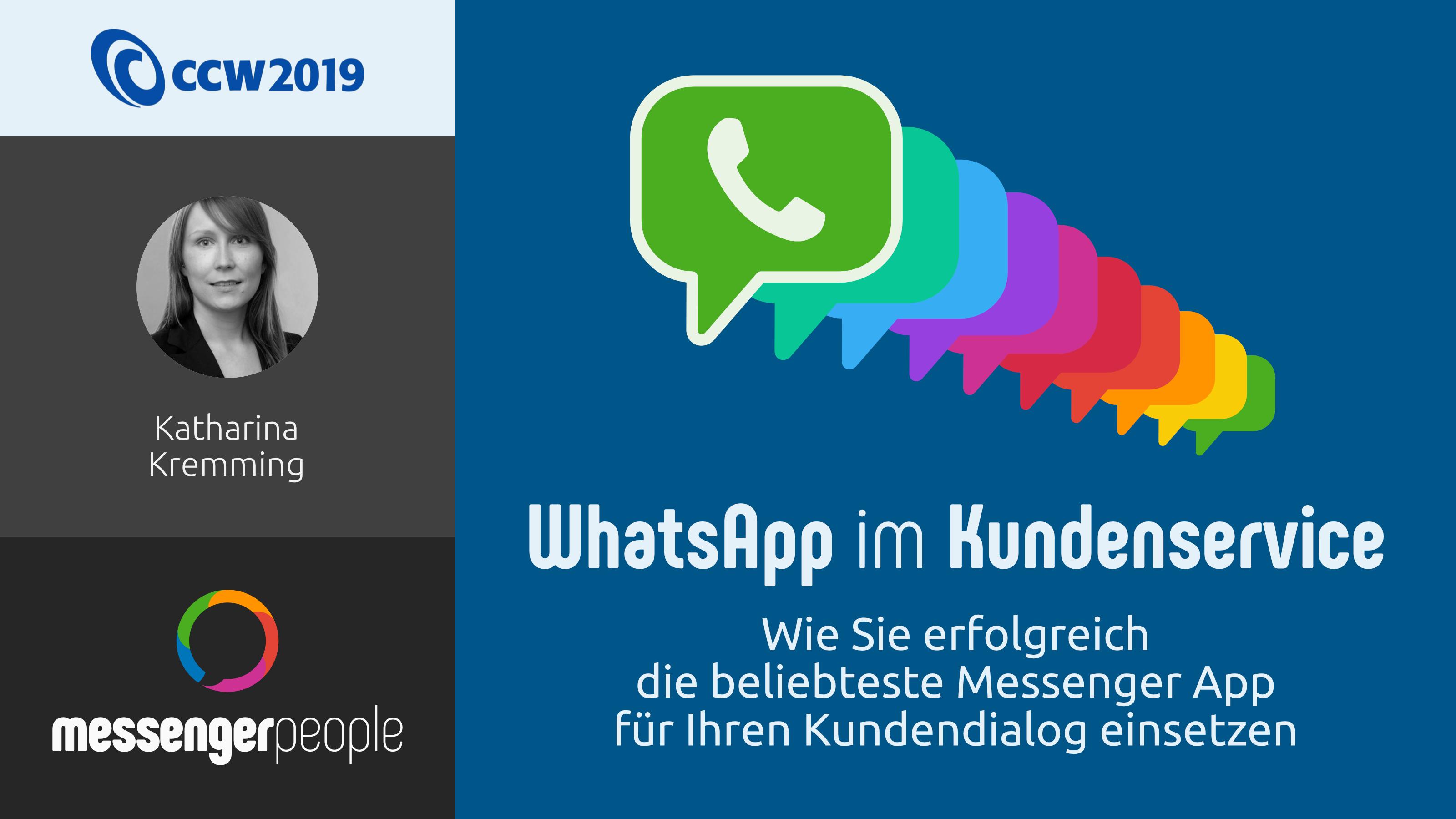 WhatsApp im Kundenservice Präsentation
