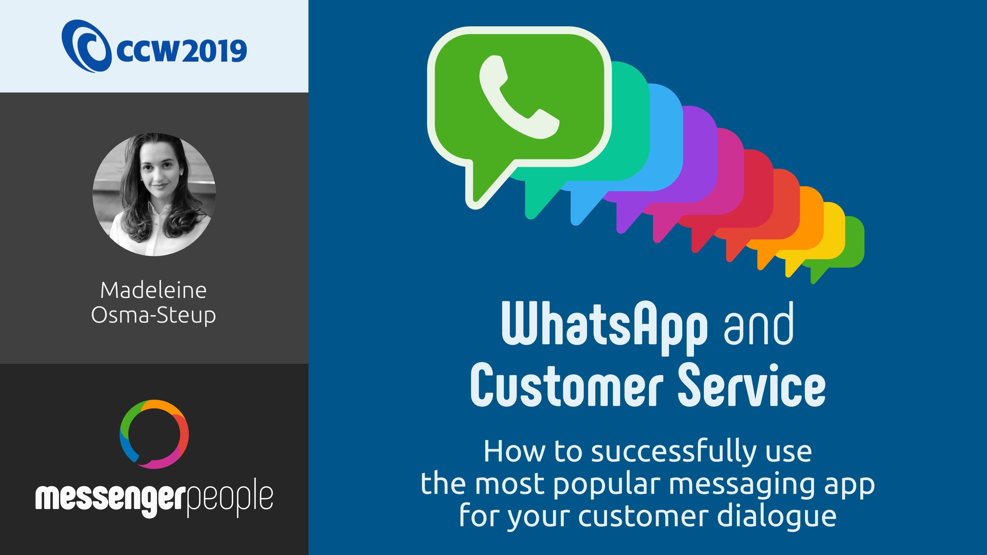 Presentation WhatsApp and Customer Service
