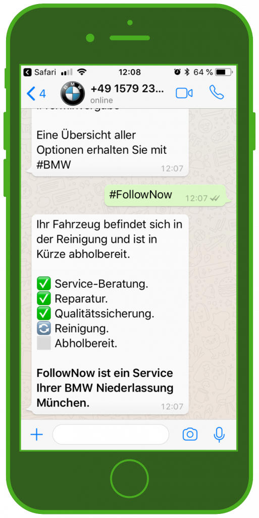BMW WhatsApp Service FollowNow