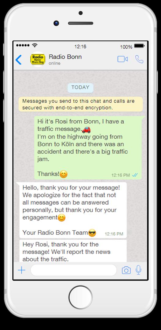 radio bonn whatsapp