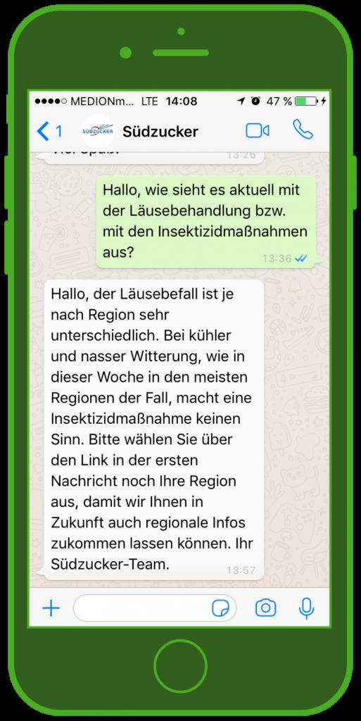 Südzucker WhatsApp B2B