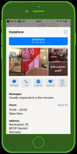 ecommerce-messenger-kundenservice-vodafone-apple-business-chat-filialsuche