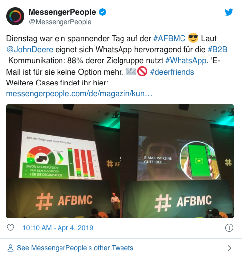 industrieunternehmen-mesxsenger-kommunikation-tweet-messengerpeople-afbmc-johndeere