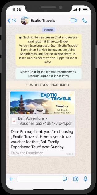pdf Media WhatsApp Notifiation Template Messages