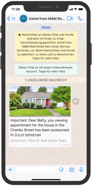 photo Media WhatsApp Notifiation Template Messages
