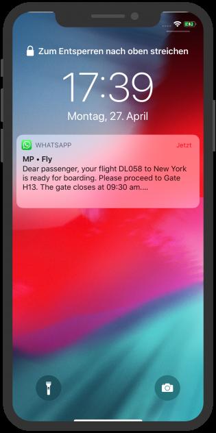 MP + Fly WhatsApp notification