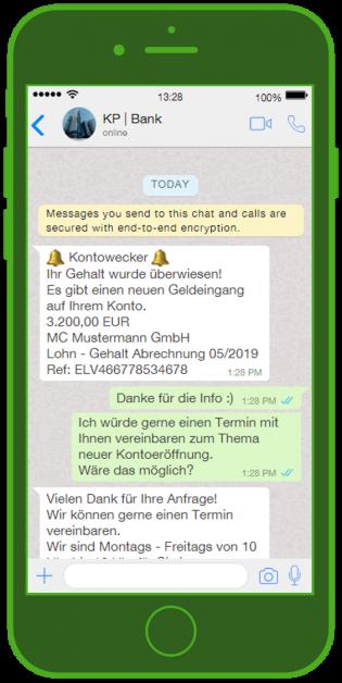 Banken-Messenger-Kundenservice-WhatsApp_Notification-Finanz-Update-Chat