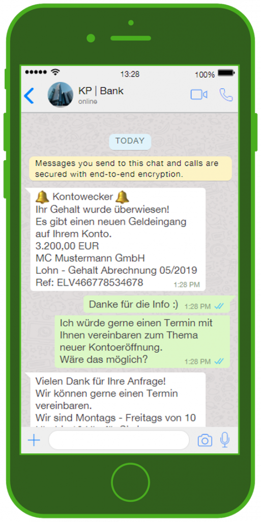 Banken-Messenger-Kundenservice-WhatsApp_Notification-Finanz-Update-Chat
