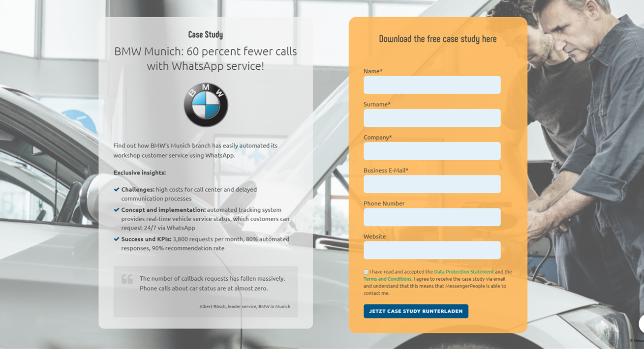 How BMW Optimizes Its Workshop Customer Service With WhatsApp