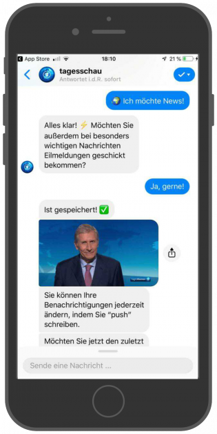 Messenger-Newsletter-Tagesschau-Facebook-Messenger