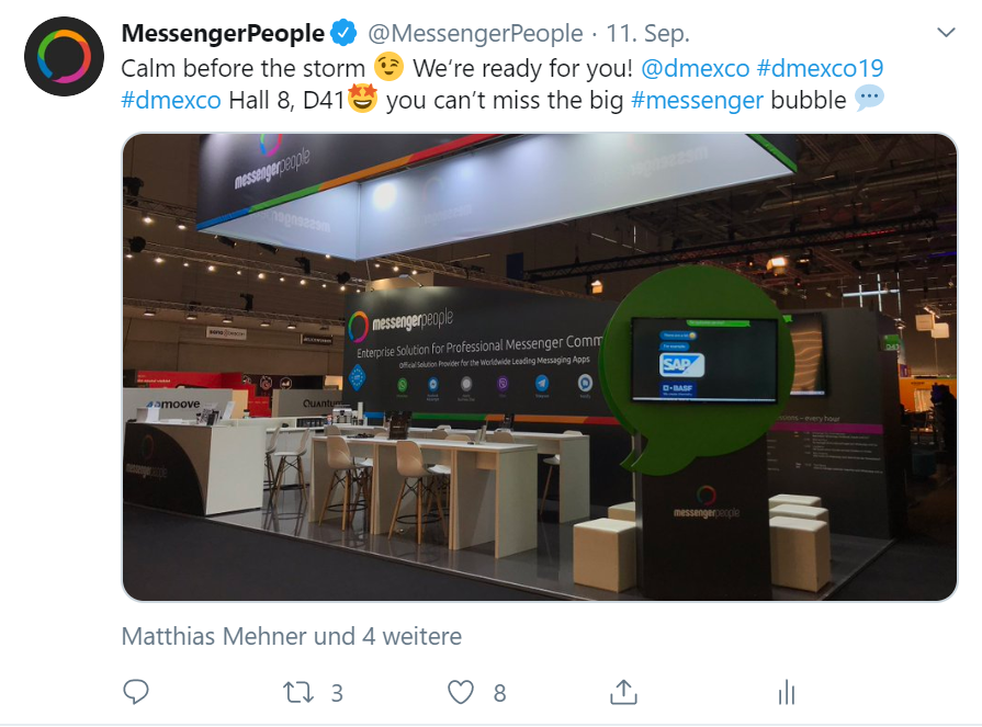 MessengerPeople DMEXCO