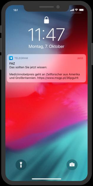 Telegram-Messenger-Newsletter-FAZ-Notification
