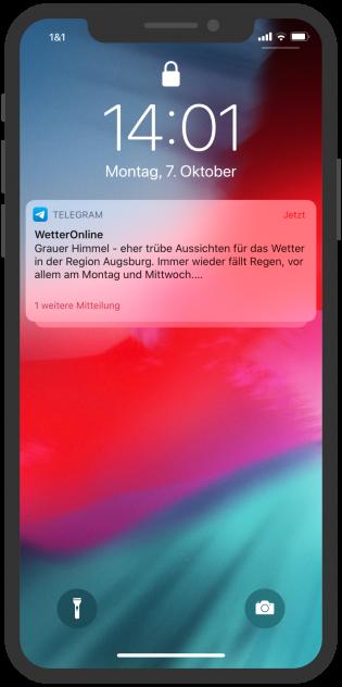 Telegram-Messenger-Newsletter-Wetter-Online-Notification