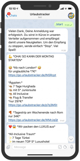 Messenger-Newsletter-Telegram-Messenger-Newsletter-Urlaubstracker-Deal-Alarm
