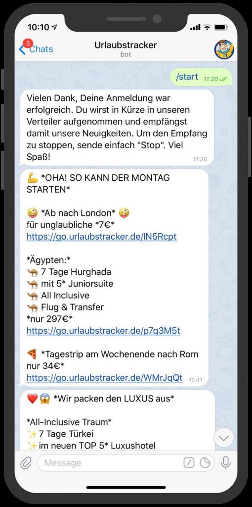 Messenger-Newsletter-Telegram-Messenger-Newsletter-Urlaubstracker-Deal-Alarm