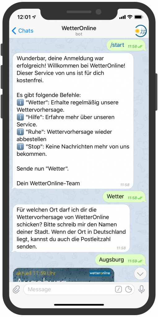 Telegram-Messenger-Newsletter-Wetter-Online