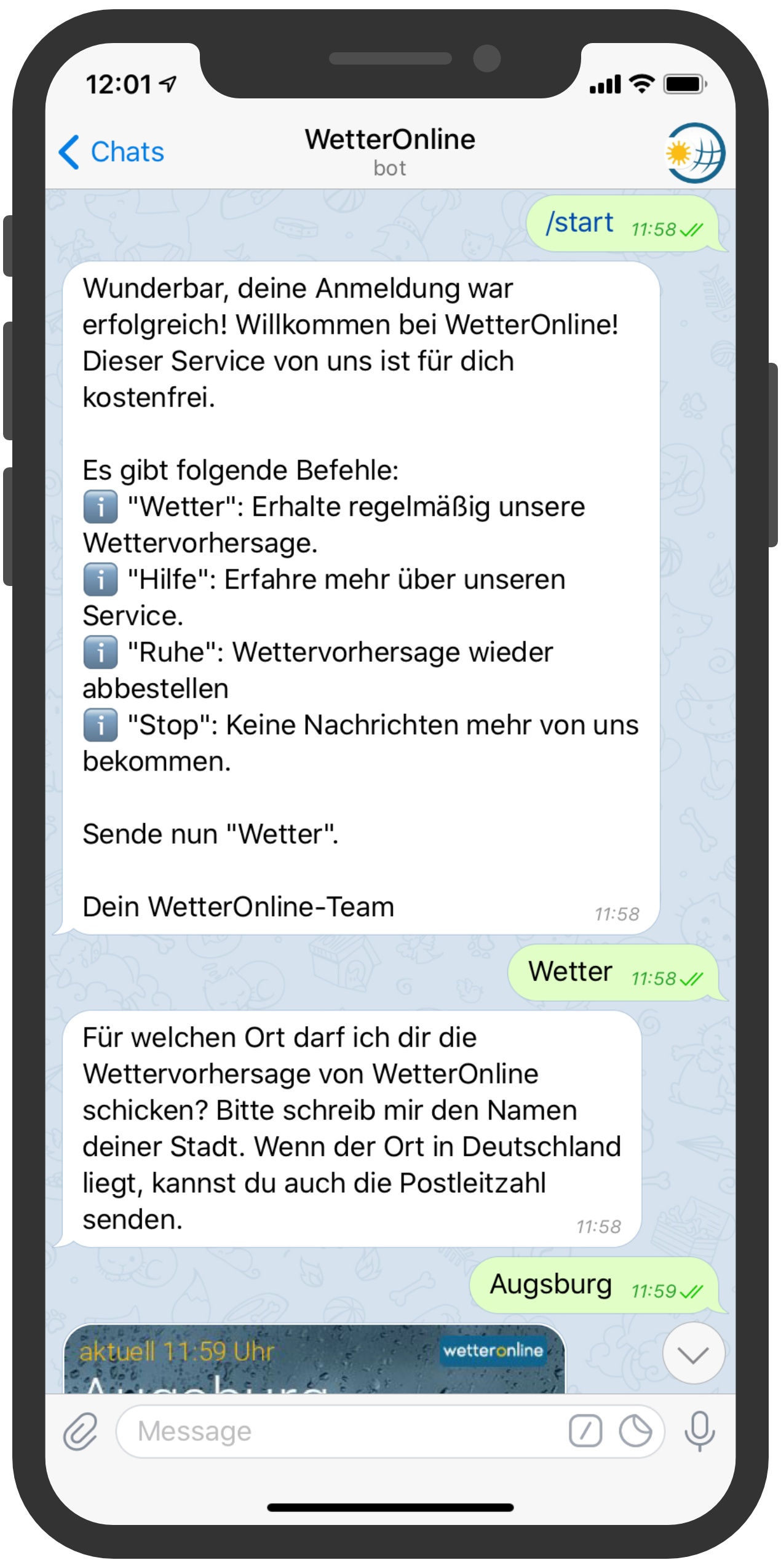 messenger-newsletter-Telegram-Messenger-Newsletter-Wetter-Online