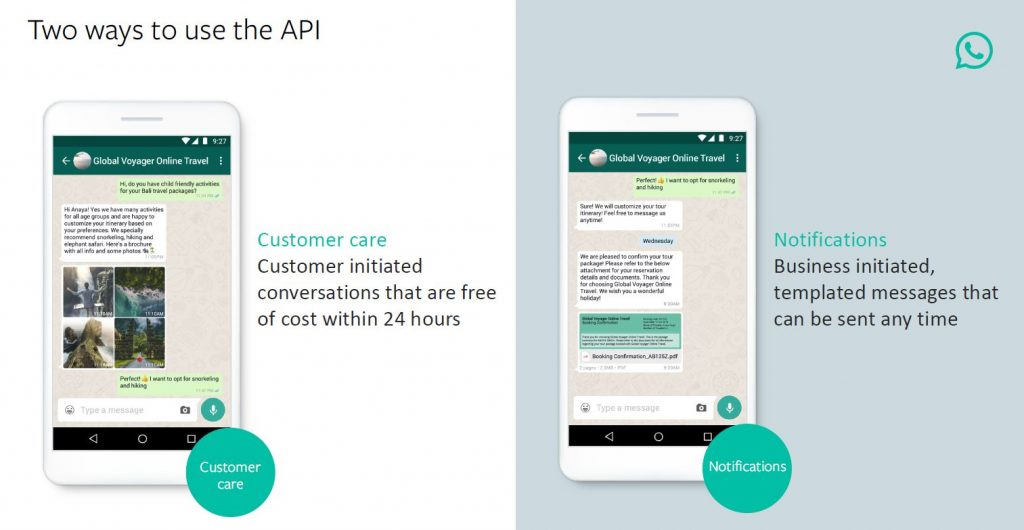 WhatsApp Business API Use