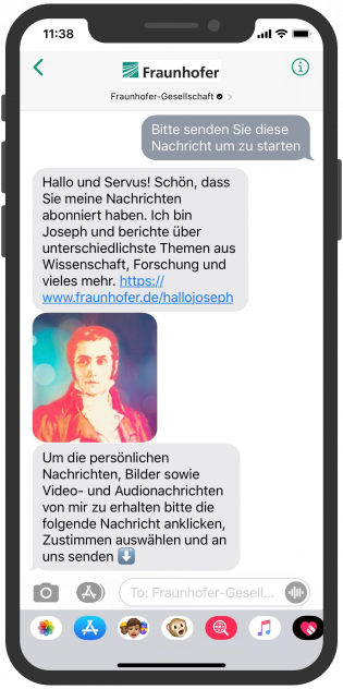 Messenger-newsletter-Fraunhofer-Gesellschaft-Apple-Business-Chat-Storytelling-1-Messenger-Marketing-Trends-Apple-Business-Chat