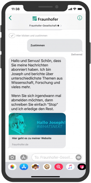 Fraunhofer-Gesellschaft-Apple-Business-Chat-Storytelling-2-Messenger-Marketing