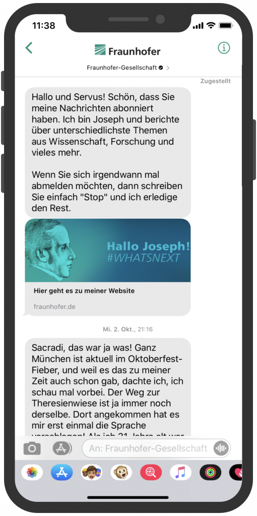 Fraunhofer-Gesellschaft-Apple-Business-Chat-Storytelling