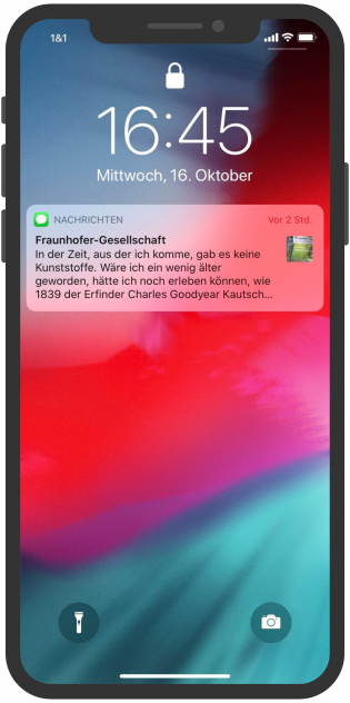 Fraunhofer-Gesellschaft-Apple-Business-Chat-Notification