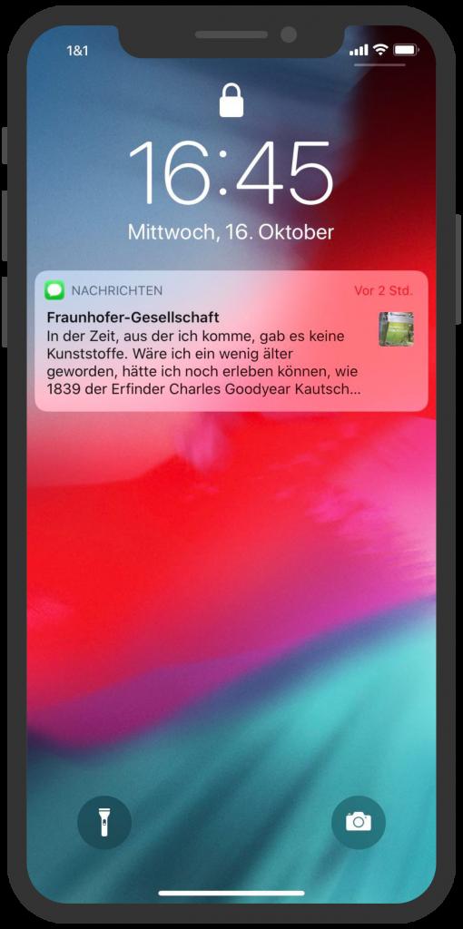 Fraunhofer-Gesellschaft-Apple-Business-Chat-Notification
