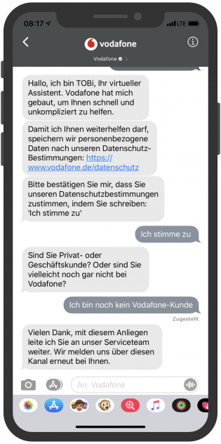 Apple-Business-Chat-Vodafone-Kundenservice