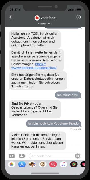 Apple-Business-Chat-Vodafone-Kundenservice