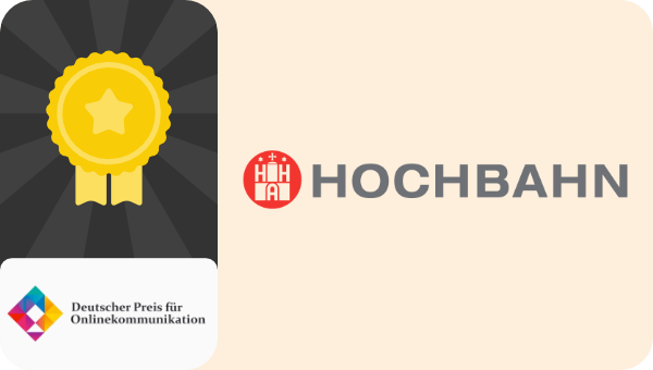 Hamburger Hochbahn deutscher preis für onlinekommunikation