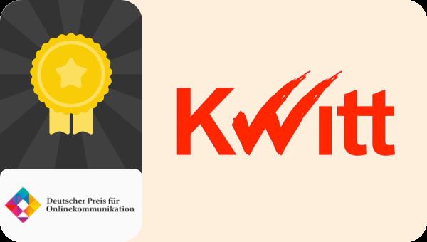 Kwitt Deutscher Preis für Onlinekommunikation