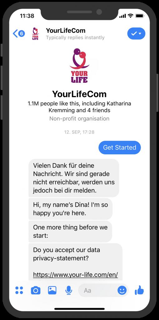 Die besten Chatbots 2019 Bayer mit YourLife