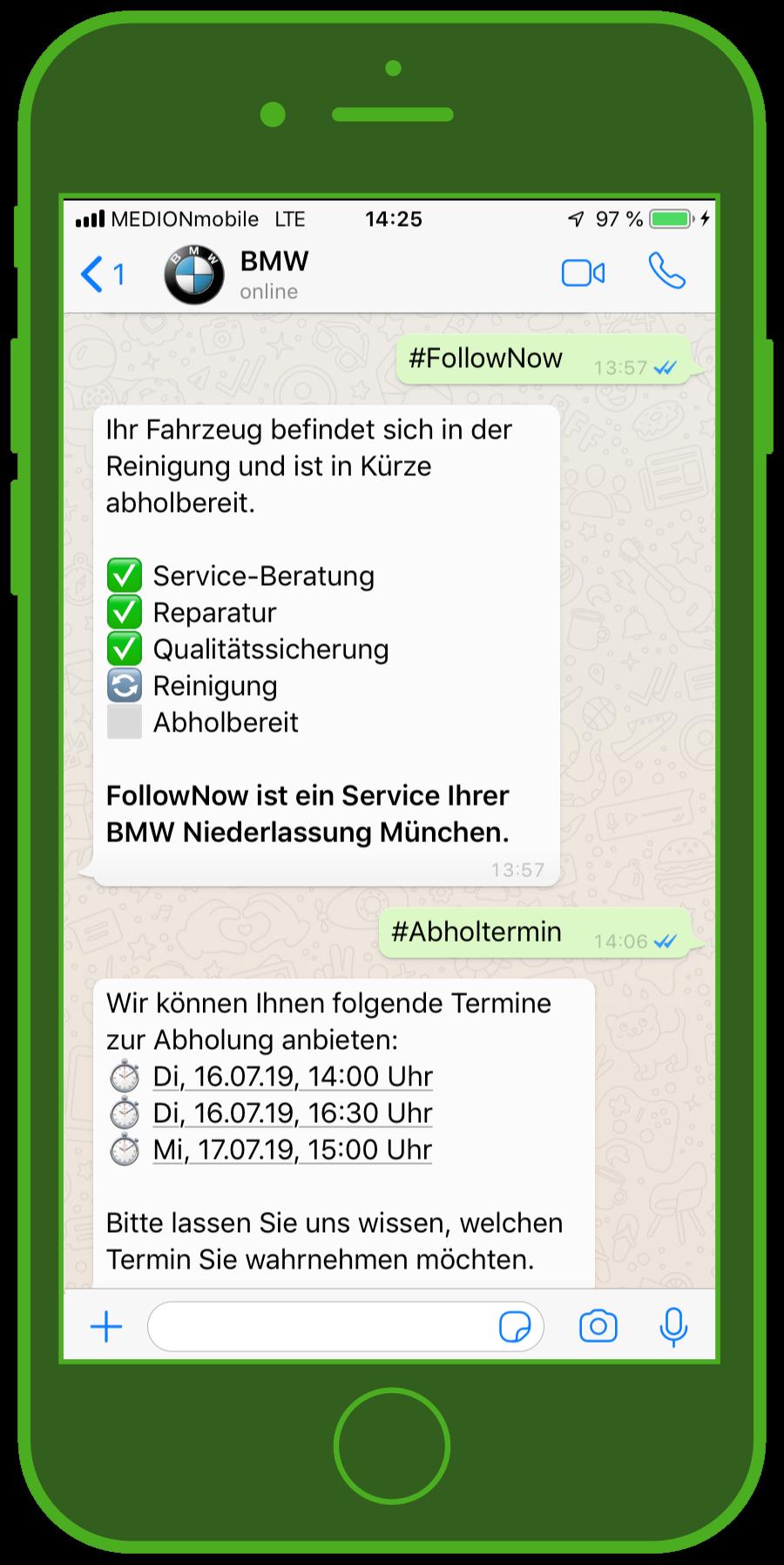 BMW WhatsApp Kundenservice