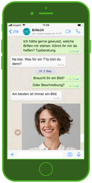 WhatsApp Beratung Brille24 ecommerce messenger kundenservice