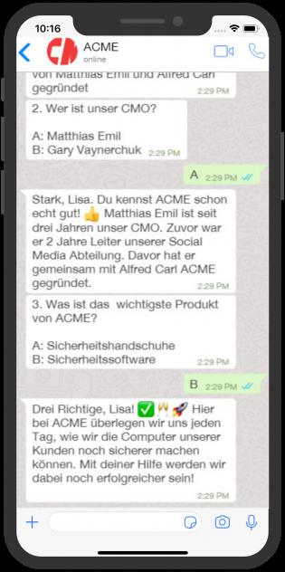 ACME Chatbot Service