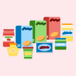 Lebensmittel-Messenger-Kommunikation