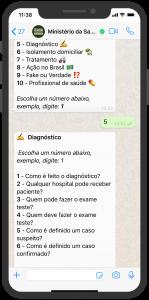 Gesundheitsministerium Chatbot Service