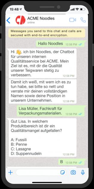 device-acme-whatsapp-aussendienst-mitarbeiter-unternehmen-qualitat-chatbot-1