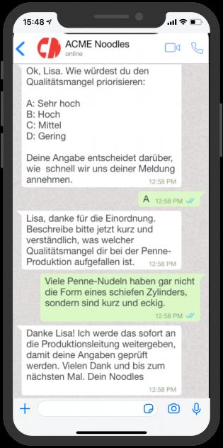 device-acme-whatsapp-aussendienst-mitarbeiter-unternehmen-qualitat-chatbot-2