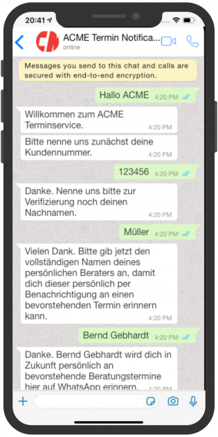 device-acme-whatsapp-aussendienst-notification-mitarbeiter-kunde-1