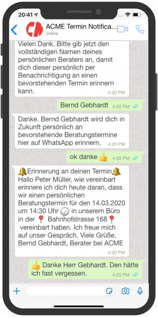 device-acme-whatsapp-aussendienst-notification-mitarbeiter-kunde-2