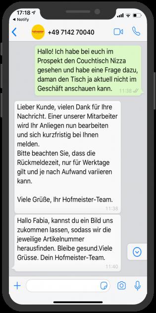 Einzelhandel-WhatsApp-Hofmeister-1